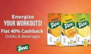 Flat 40% Cashback On Tang – Paytm